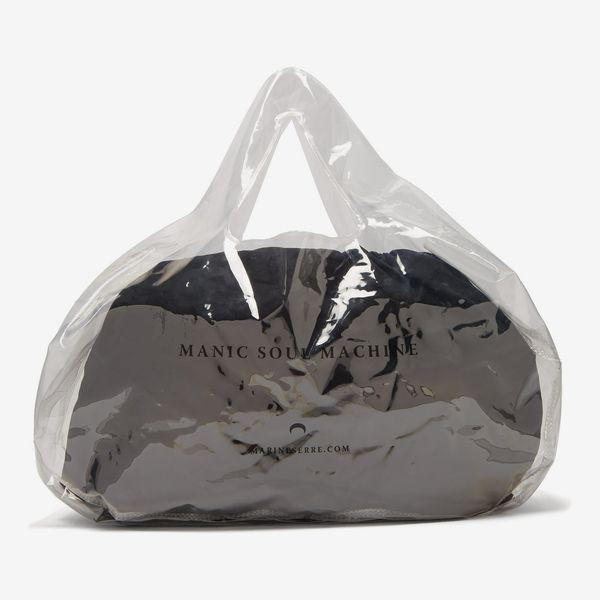 Marine Serre Logo-Print PVC bag
