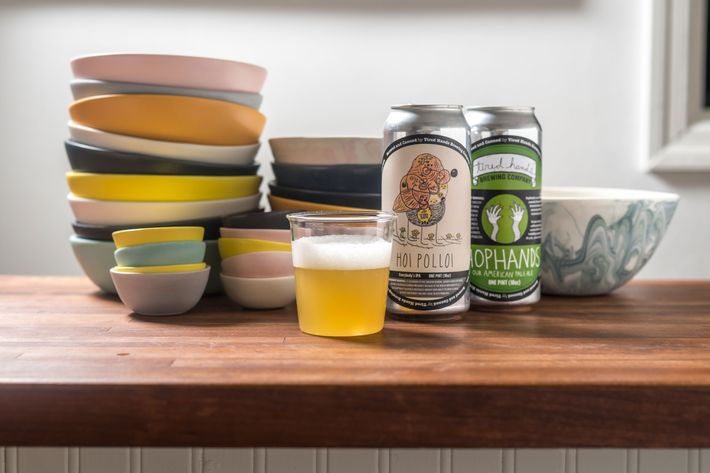 Beer, too: This is the Tired Hands Hoi Polloi IPA.