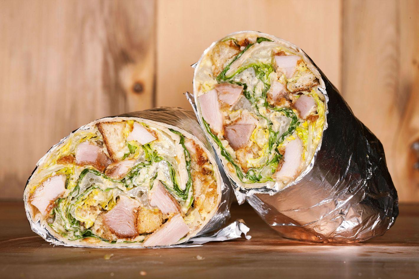Chicken-Caesar wrap.
