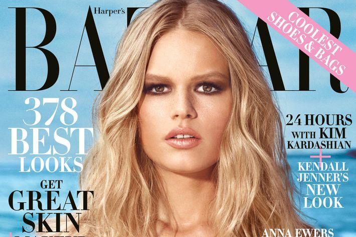 Anna Ewers for <em>Harper's Bazaar</em>.