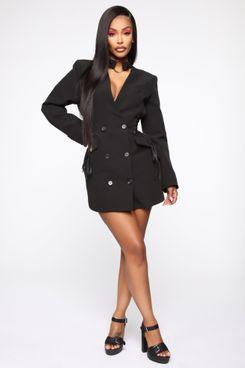 Fashion Nova x Cardi B Boardin' Jets Blazer Dress