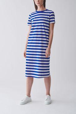 COS Striped Cotton T-Shirt Dress