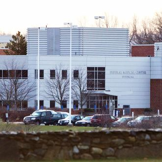 The entrance to Federal Medical Center Devens in Devens, Massachusetts, U.S. is shown on Monday, Dec. 5, 2011.