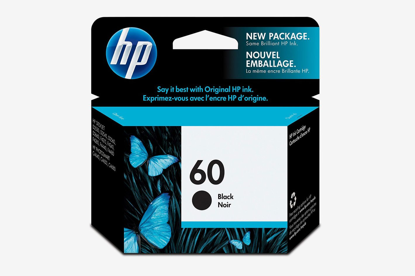 HP 60 Black Original Ink Cartridge (CC640WN) for HP Deskjet