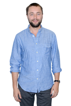 """Vincent Kartheiser attends the """"Billy & Ray"""" Cast Photocall at Davenport Studios on September 5, 2014 in New York City."""
