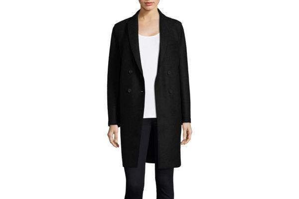 Harris Wharf London Boxy Double-Breasted Wool Coat