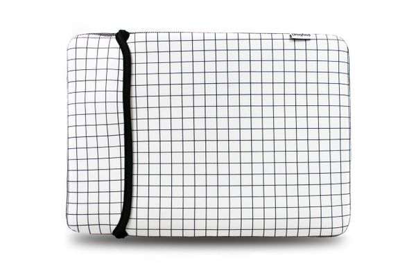 White Grid MacBook Sleeve