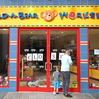 A closed Build-A-Bear store in Belfast.