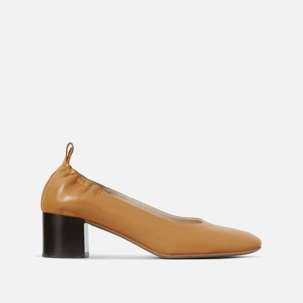 Everlane Day Heel, Honey Stacked