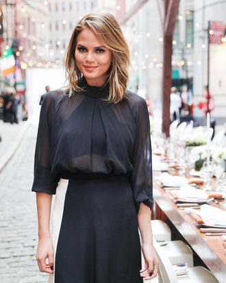 Chrissy Teigen, lover of bacon and feeling good.