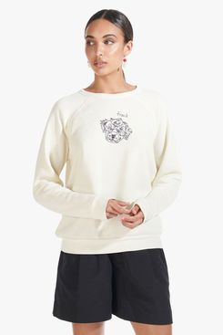 Staud Custom Sweatshirt, Cream