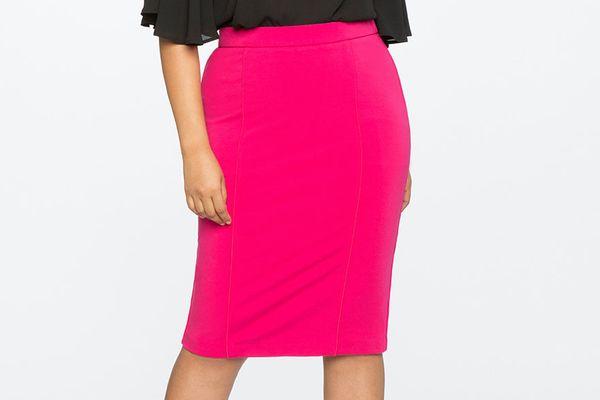Eloquii 9-to-5 Stretch Work Skirt