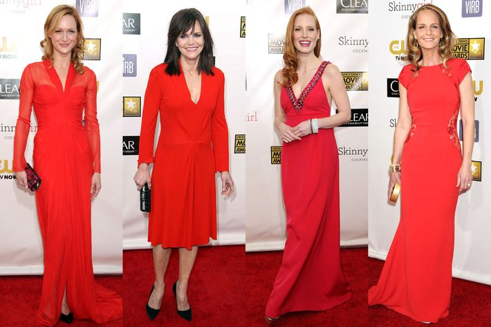 Ladies in red.