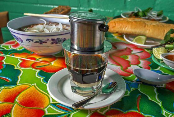 Vietnamese coffee.