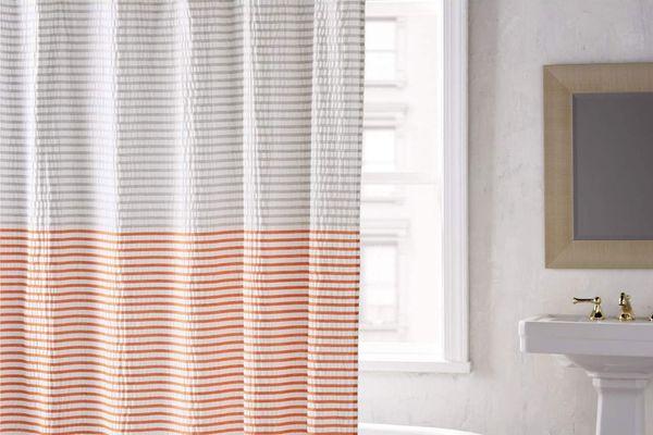 DKNY Parson Stripe Shower Curtain