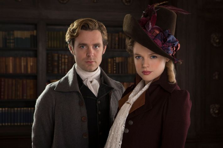 Luke Norris as Dwight Enys, Gabriella Wilde as Caroline Penvenen.