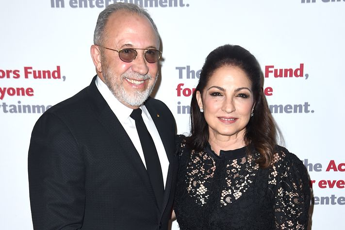Emilio and Gloria Estefan at the Actors Fund gala.