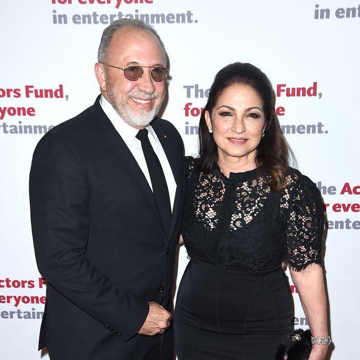 Emilio and Gloria Estefan at the Actors Fund gala.