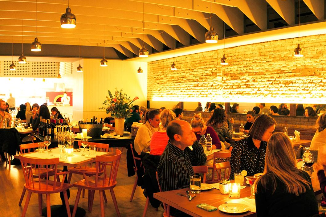 underground gourmet review the cooking at vic s is big bold and
