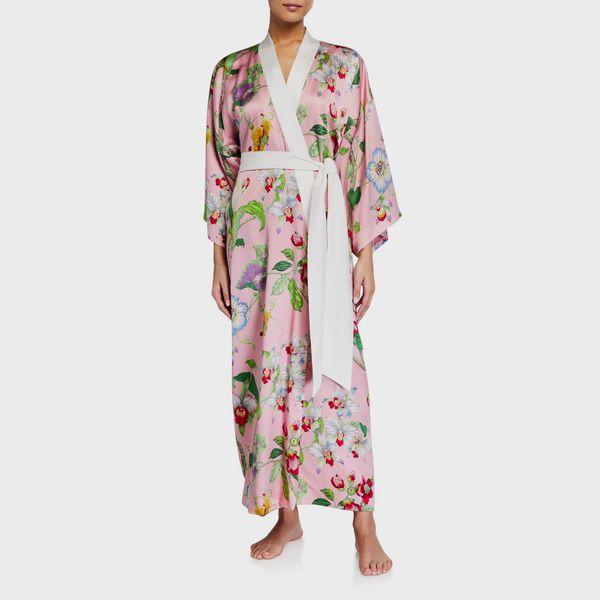 Olivia Von Halle Queenie Appleyard Silk Kimono Robe