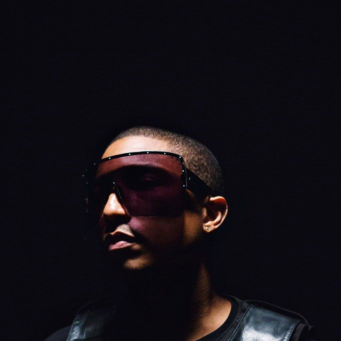 Pharrell's goggle glasses.