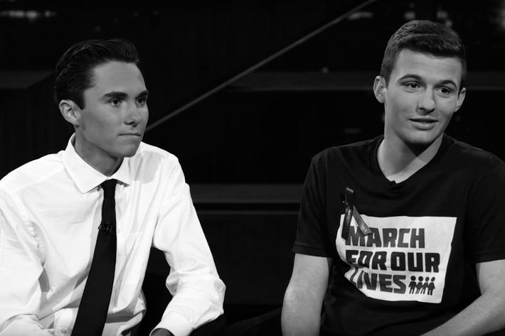 David Hogg and Cameron Kasky.