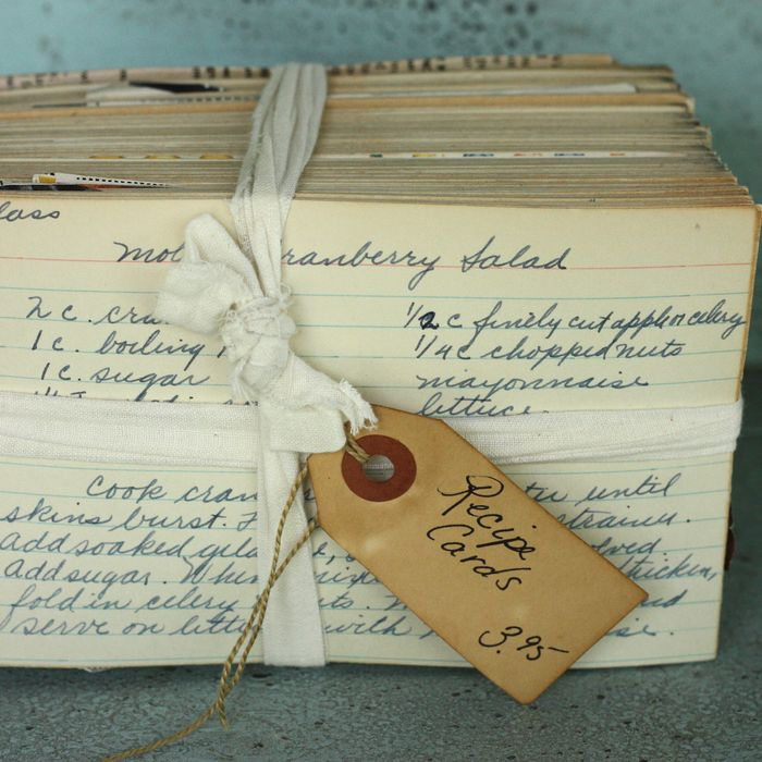 Vintage recipe cards lead to heartwarming food blogging story the cards in question forumfinder Gallery