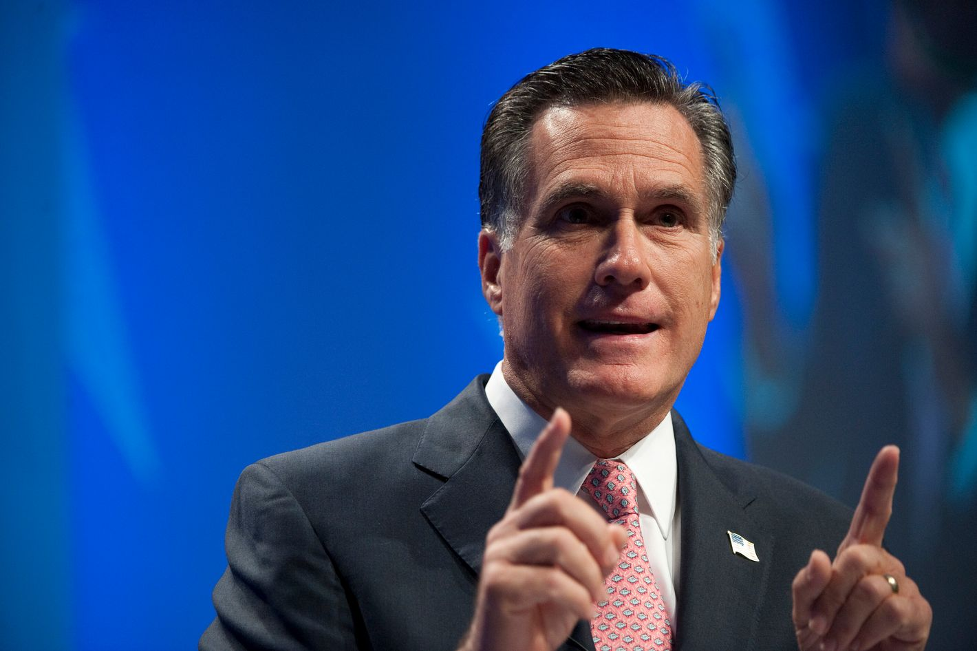 Former Gov. Mitt Romney, R-Mass., speaks to the CPAC Conference held by the American Conservative Union in Washington on Friday, Feb. 11, 2010.