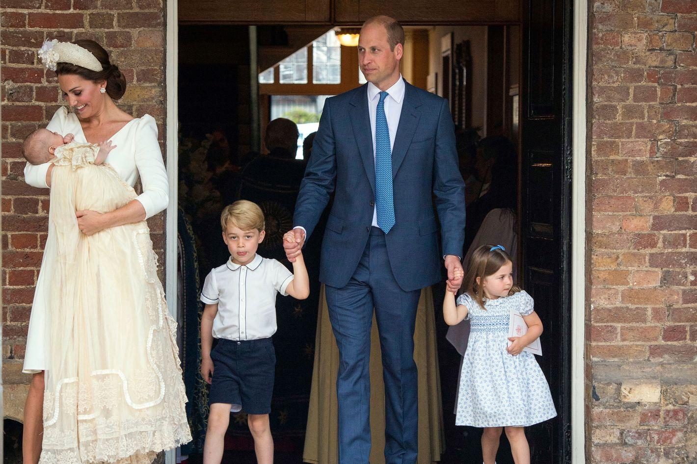 Princess Charlotte, Prince George At Louis's Christening