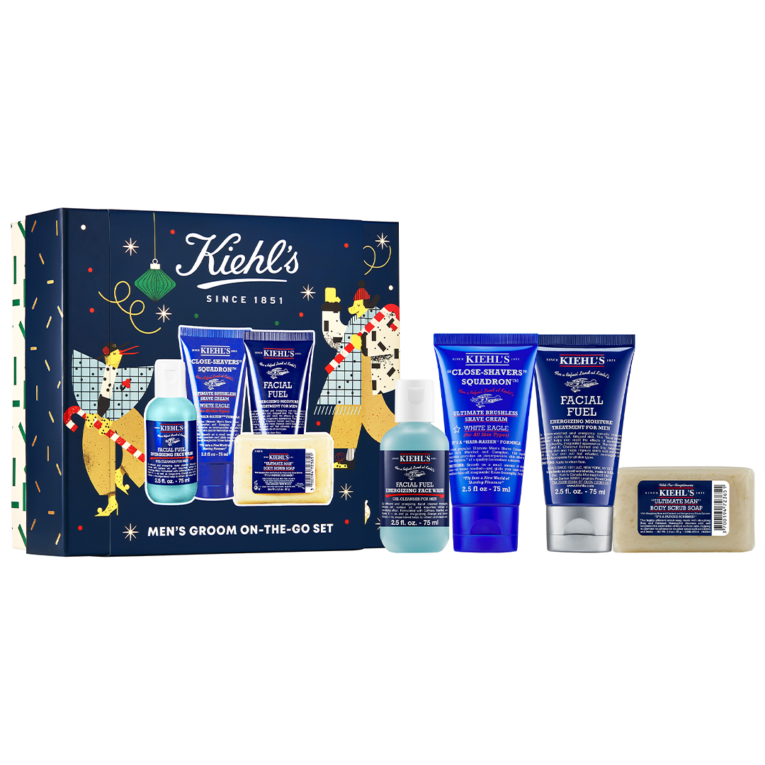 Kiehl's Men's Groom On-The-Go 4-Piece Set