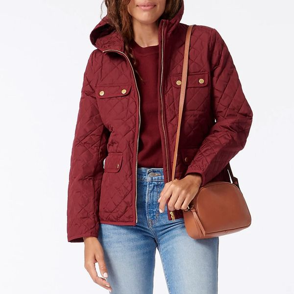 J. Crew Quilted Field Jacket with PrimaLoft