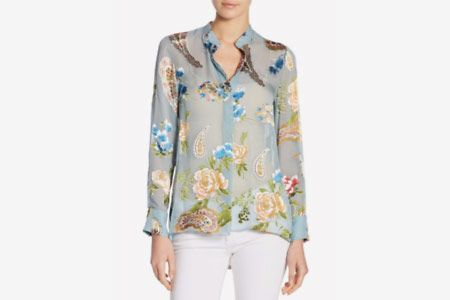 Alice + Olivia Amos Floral Tunic Top