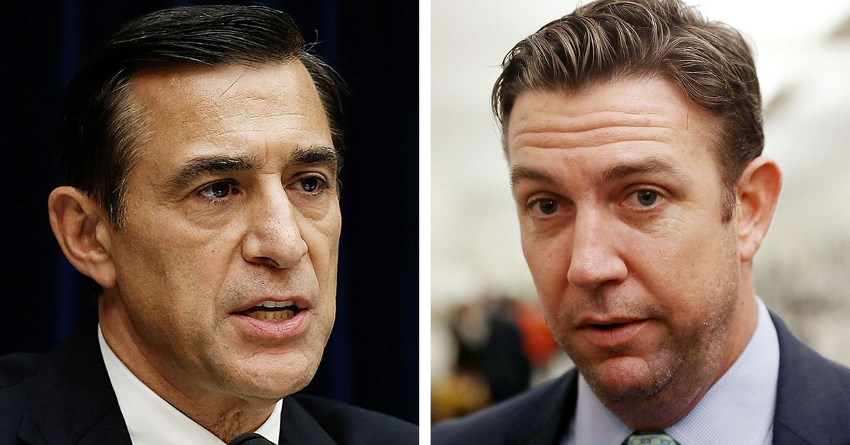Darrell Issa Plots Comeback by Taking Out Duncan Hunter