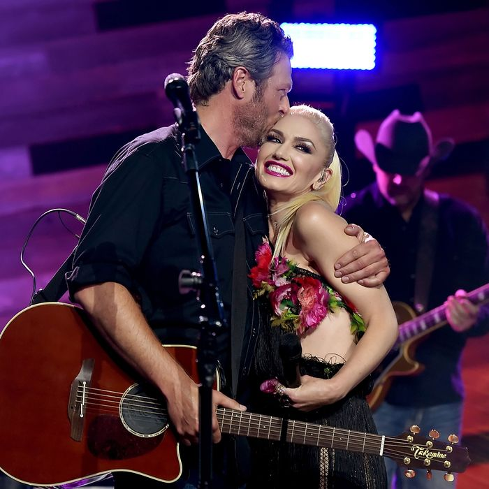 Blake Shelton and Gwen Stefani.