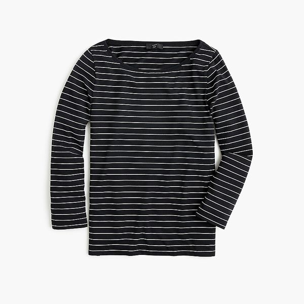 J.Crew 365 Stretch Long-Sleeved T-shirt in Stripe