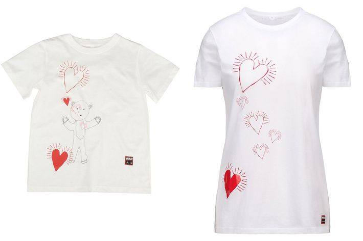 Limited-edition T-shirts from Stella McCartney's line to benefit War Child UK.