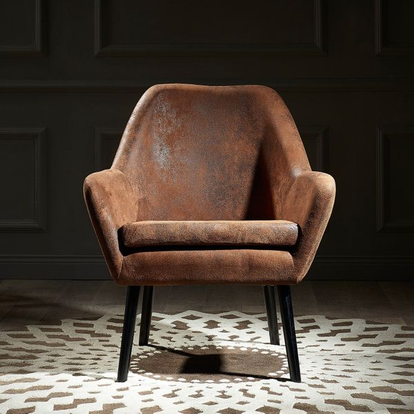 Versanora Divano Armchair, Aged Fabric