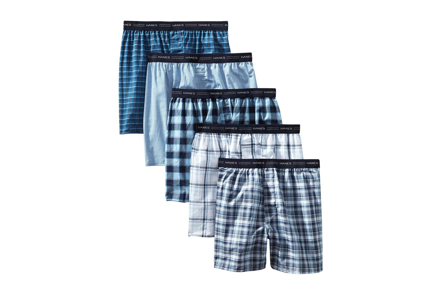 700cd030a914 Hanes Men's 5-Pack FreshIQ Tagless Tartan Boxers