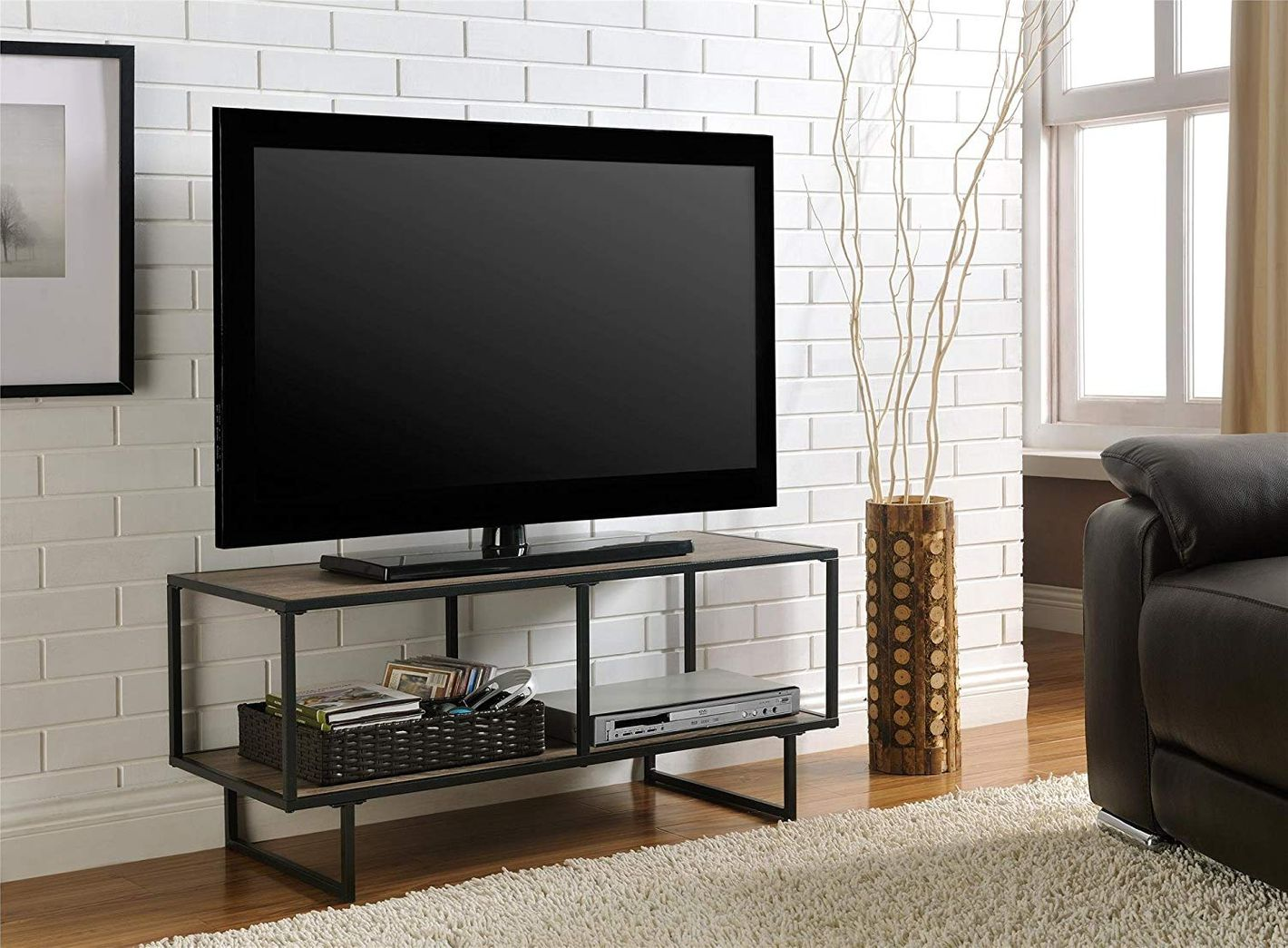 Ameriwood Home Emmett Tv Stand Coffee Table For Tvs Up To 42 Weathered