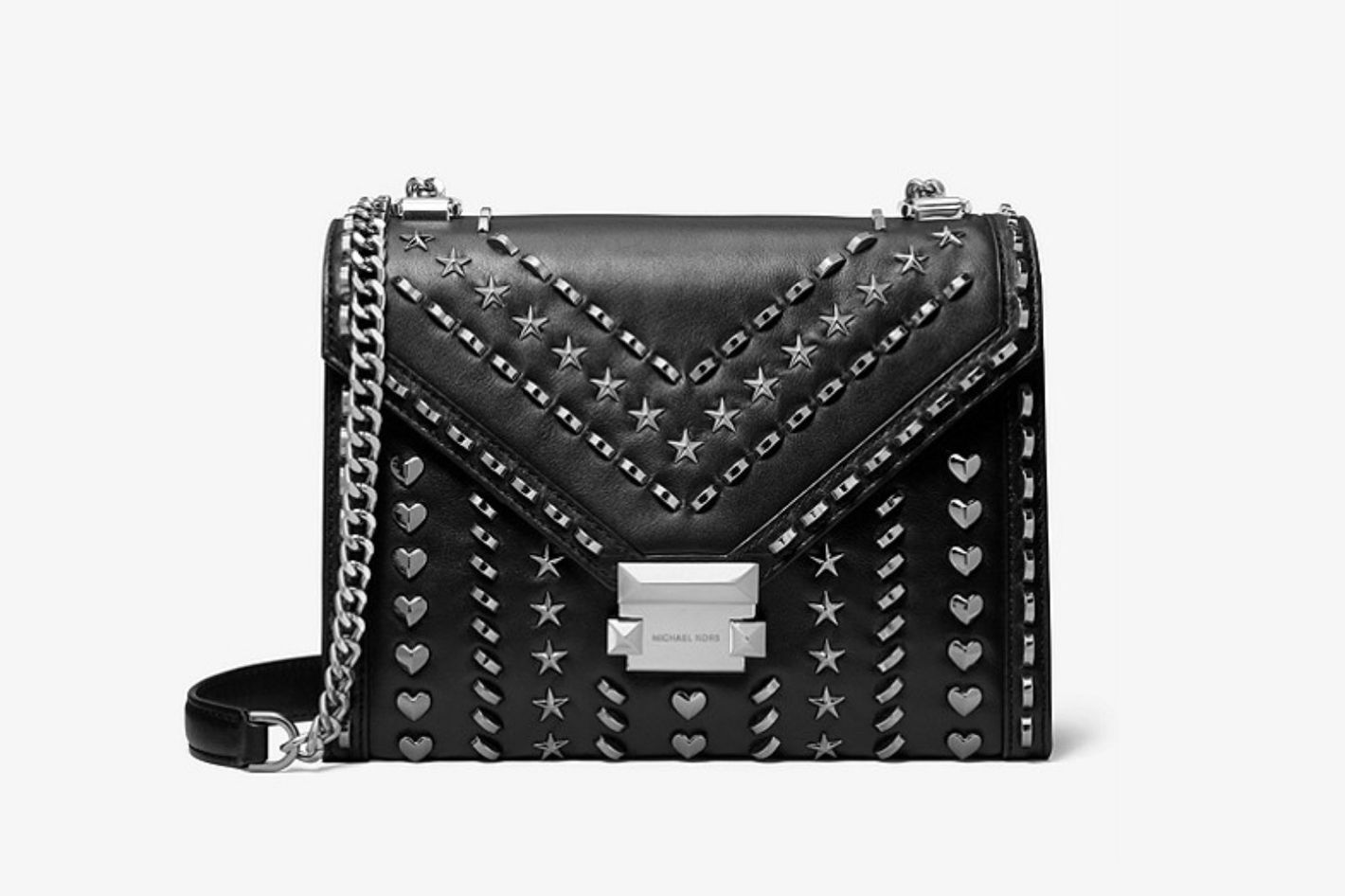 Michael Kors X Yang Mi Whitney Large Studded Leather Convertible Shoulder Bag