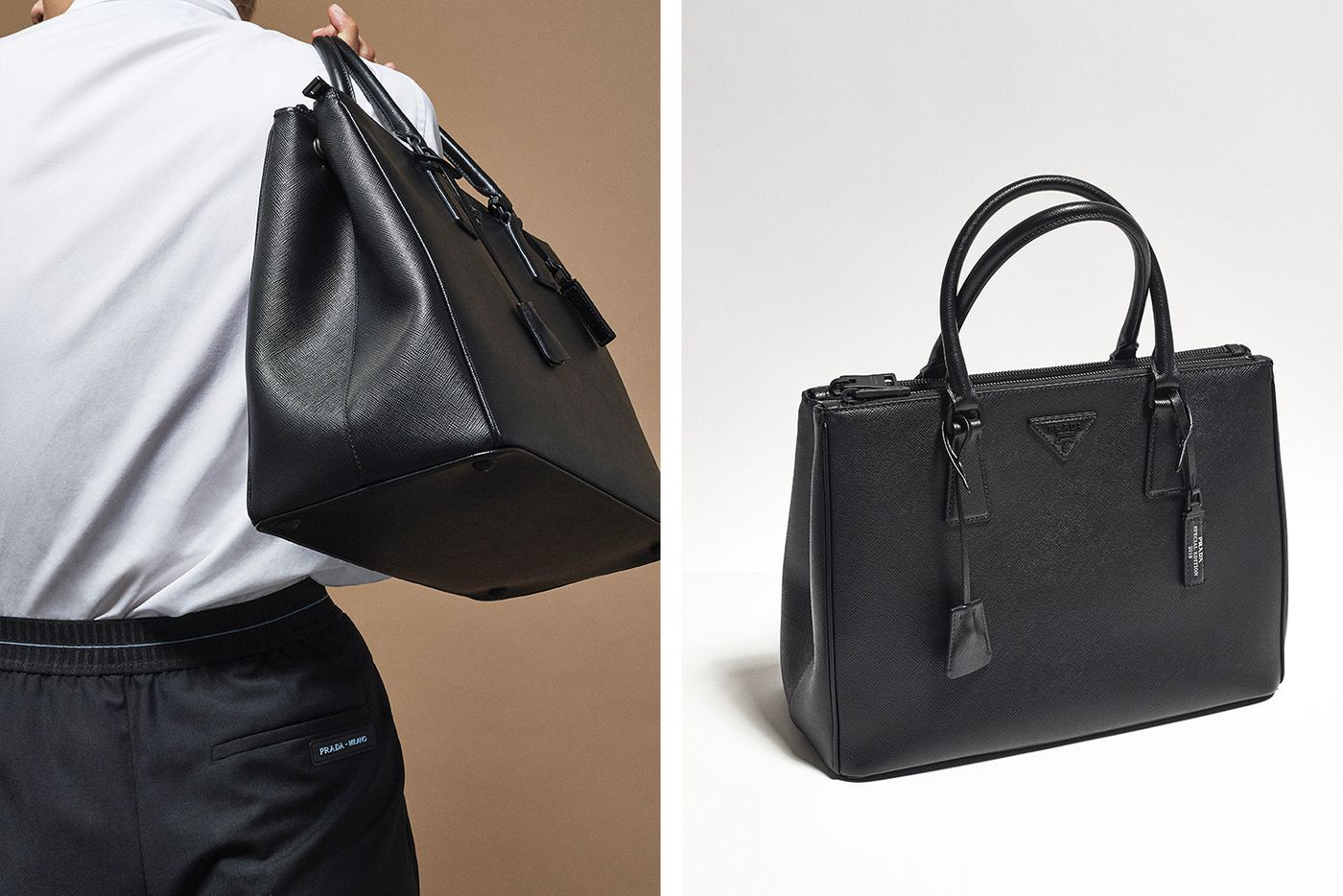 2f6aba52c10b See Prada s All-Black Handbag Capsule Collection