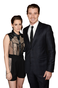 "Actors Kristen Stewart and her co-star Garrett Hedlund attend a special screening of ""On The Road"" at Sundance Cinema on December 6, 2012 in Los Angeles, California."