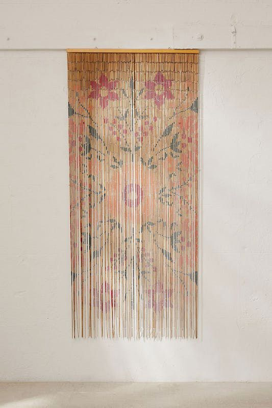 Rosa Floral Bamboo Beaded Curtain