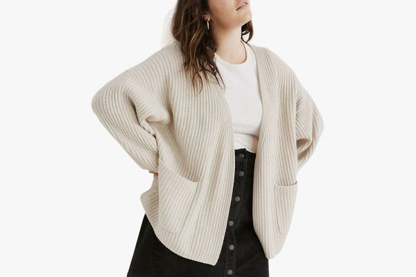 Madewell Redford Wool Blend Cardigan Sweater