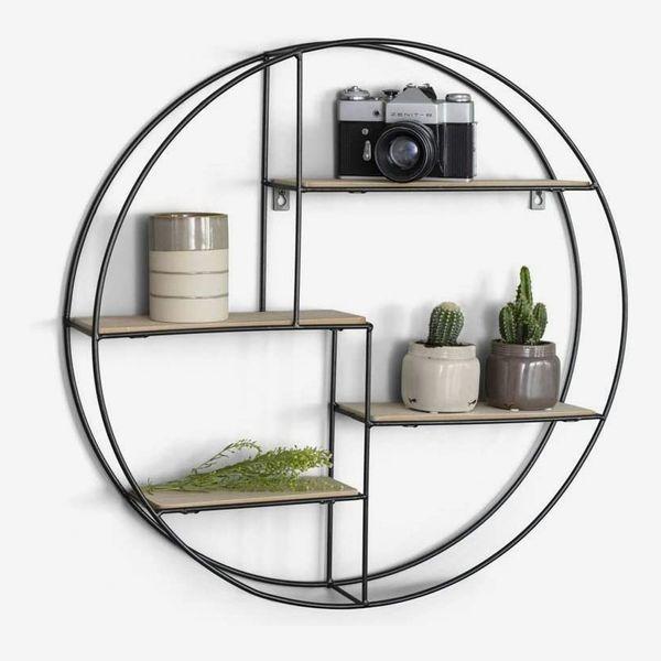 LIFA LIVING Round Wall Shelf Unit
