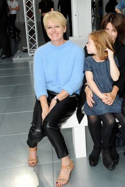 Jane Shepherdson, CEO of Whistles, attends the front row at the Whistles show during London Fashion Week SS14 at Heron Tower on September 14, 2013 in London, England.
