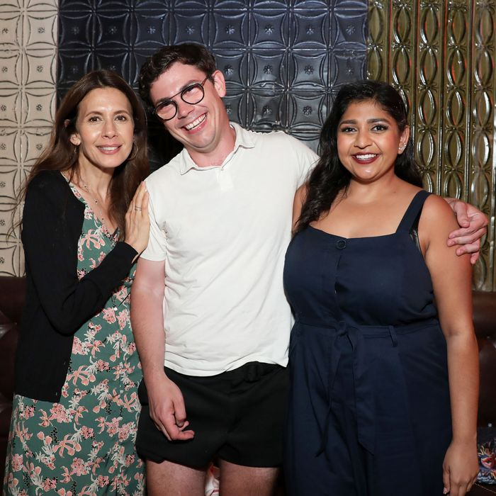 Jessica Hecht, Ryan O'Connell, and Punam Patel.