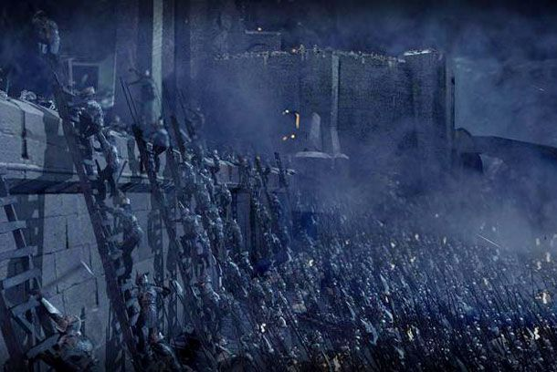 Lord Of The Rings Helms Deep Orcs Battle