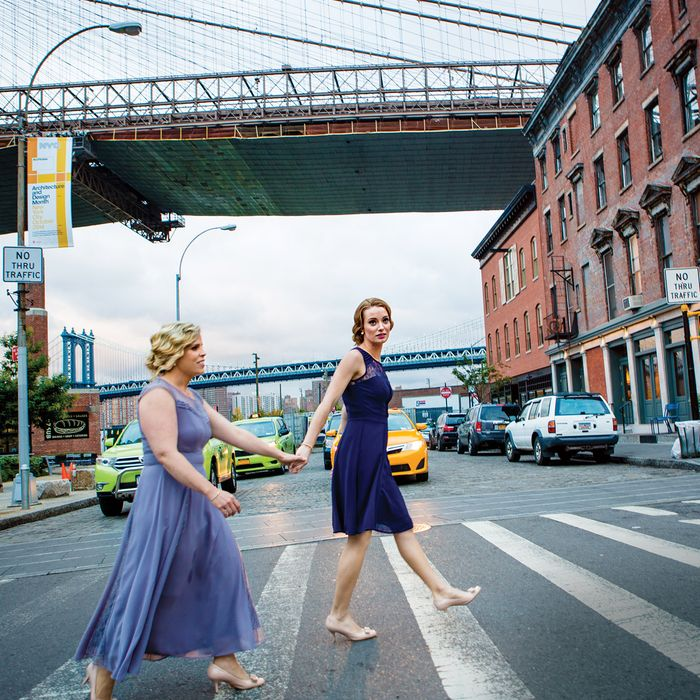 Newlyweds Amanda Jenkins and Sheri Bourke.