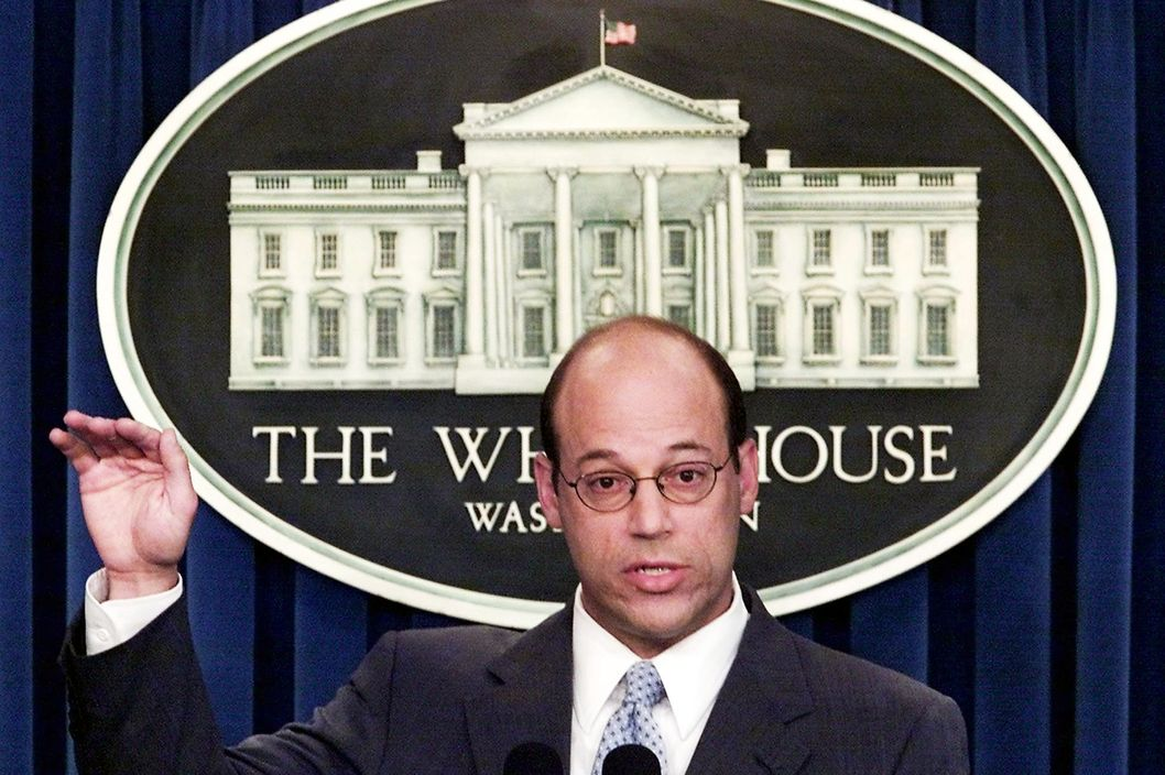 White House Press Secretary Ari Fleischer talks about the Presidents declining approval poll numbers in the Press Breifing Room of the White House 02 July, 2001 in Washington, DC.  Fleischer also addressed the status of the President's governmental appointments.